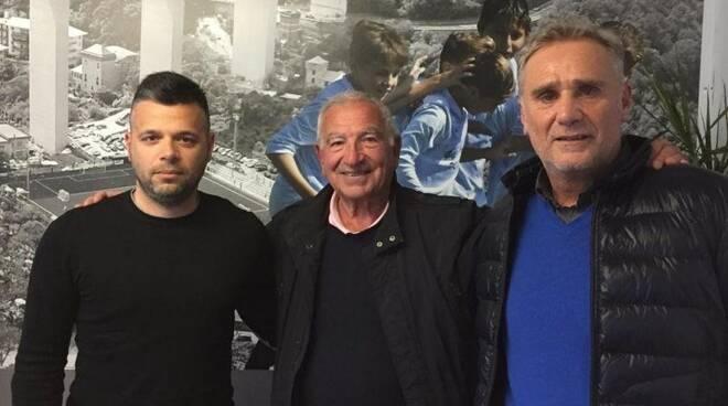 L'allenatore del Golfo Paradiso PRCA Mauro Foppiano con il diesse Mancuso.