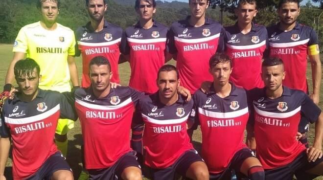 Una formazione del Sestri Levante 2019/2020 allenato da mister Alberto Ruvo.