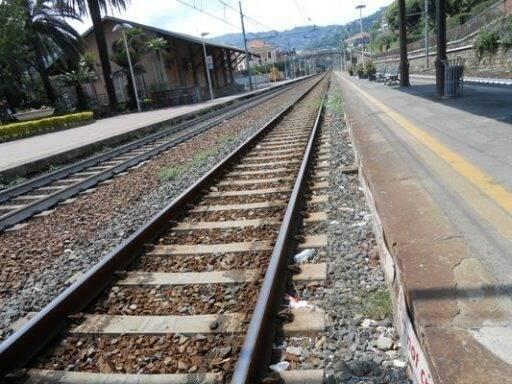 Binari del treno.