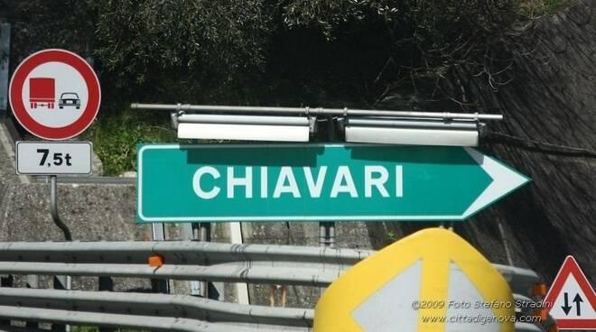 L'uscita del casello autostradale di Chiavari.