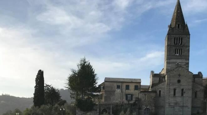 La Basilica dei Fieschi a Cogorno.