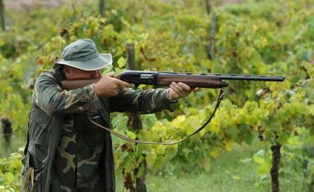 Un cacciatore in azione.