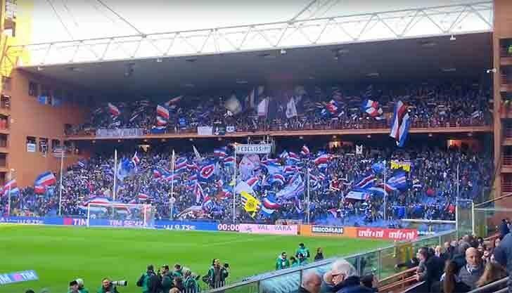 Una bella immagine dei tifosi della Sampdoria.