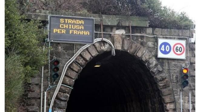 Chiusa la strada delle gallerie tra Sestri Levante e Moneglia.