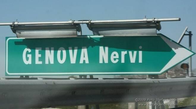 Il casello di Genova Nervi sull'A12.