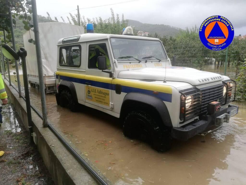 Jeep della Protezione Civile.