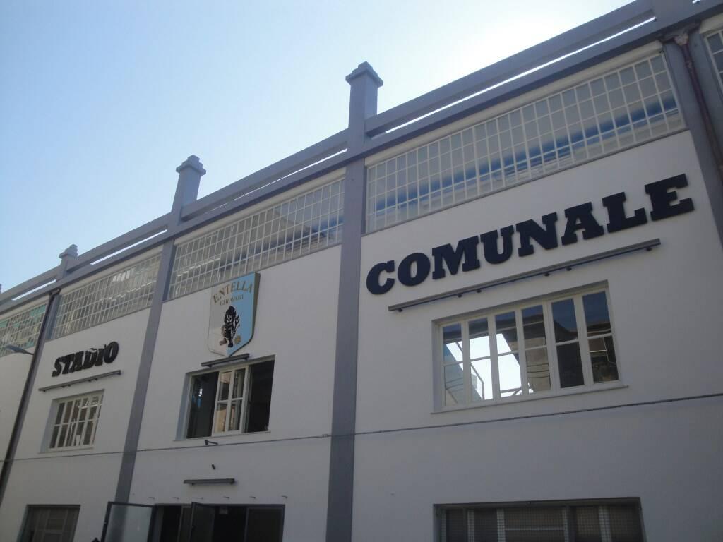 """L'esterno dello stadio """"Comunale"""" di Chiavari"""