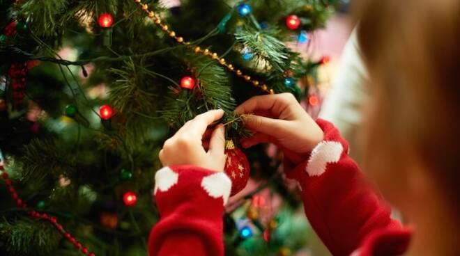 Bambini addobberanno l'albero di Natale a Rapallo.