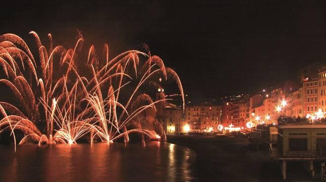 I fuochi di Capodanno a Camogli.