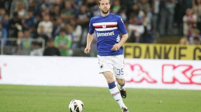 Jonathan Rossini, granitico difensore elvetico, ai tempi della sua militanza con la Sampdoria.
