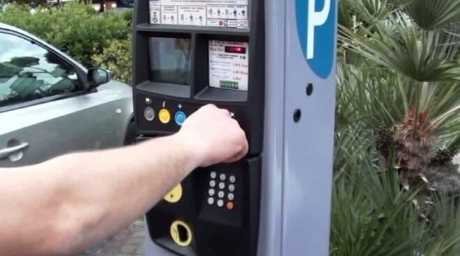 Parcometro per parcheggi a pagamento.