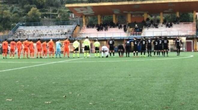 """Sammargheritese e Forza e Coraggio al fischio d'inizio del match del """"Broccardi"""""""
