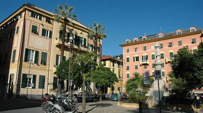 La sede del municipio a Santa Margherita Ligure.