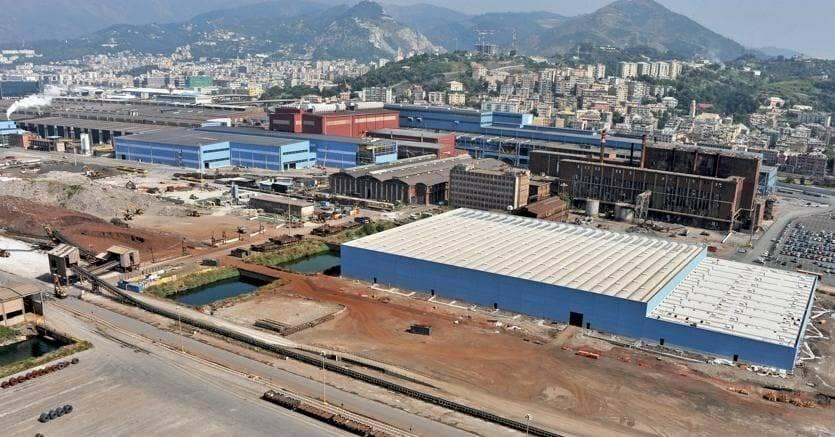 Lo stabilimento ex Ilva di Genova Cornigliano.