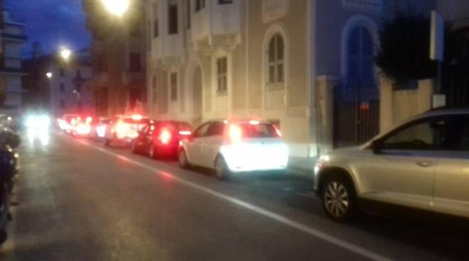 Traffico intenso sull'Aurelia.