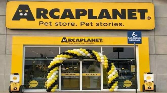 Uno dei punti vendita di Arcaplanet.
