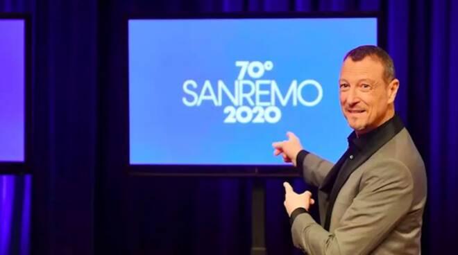Amadeus, conduttore del 70° Festival di Sanremo.