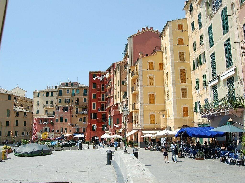Il centro di Camogli.