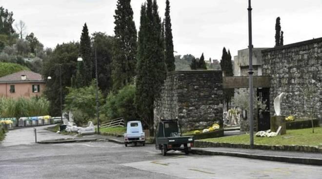 Il cimitero di San Pietro di Novella a Rapallo.