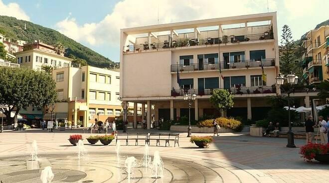 Il municipio di Zoagli.