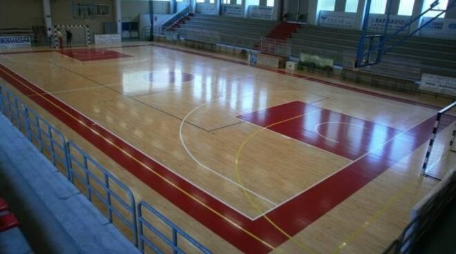 Il Palazzetto dello Sport di Sampierdicanne a Chiavari.
