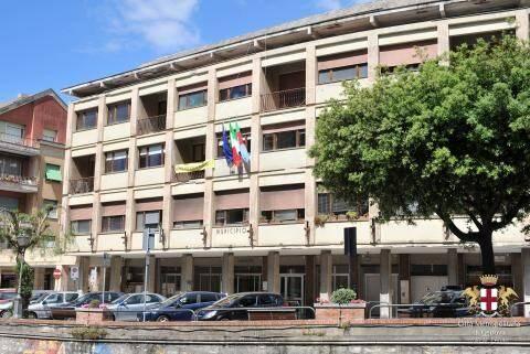 Il palazzo del Comune di Sori.