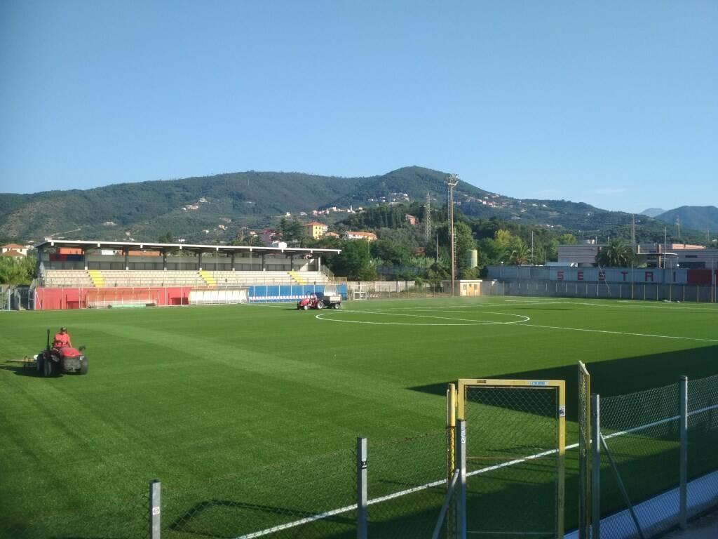 """Lo stadio """"Giuseppe Sivori"""" di Sestri Levante."""