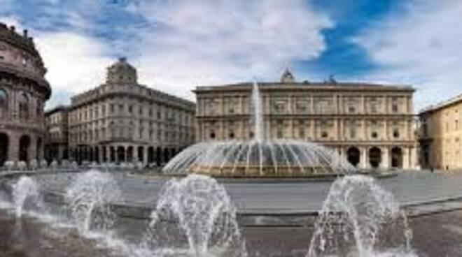Piazza De Ferrari a Genova.