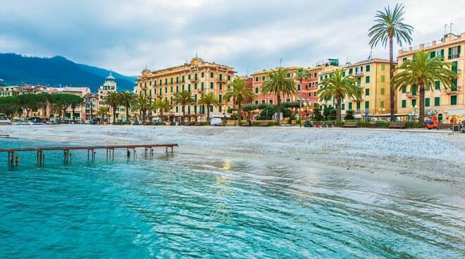 La spiaggia di Santa Margherita Ligure.
