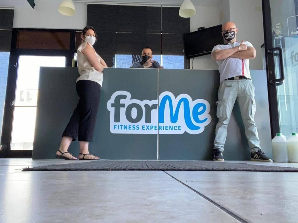 La palestra ForMe Fitness Experience che ha riaperto questa mattina.