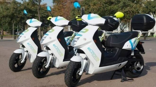 Servizio sharing di scooter elettrici.