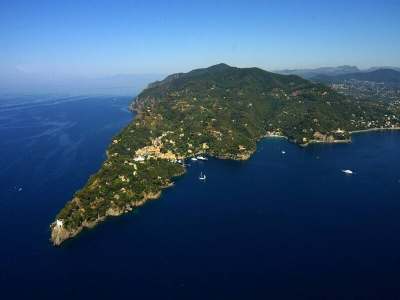 Area di Portofino con il suo parco.