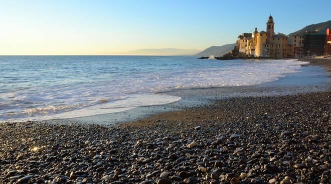 Spiaggia a Camogli.
