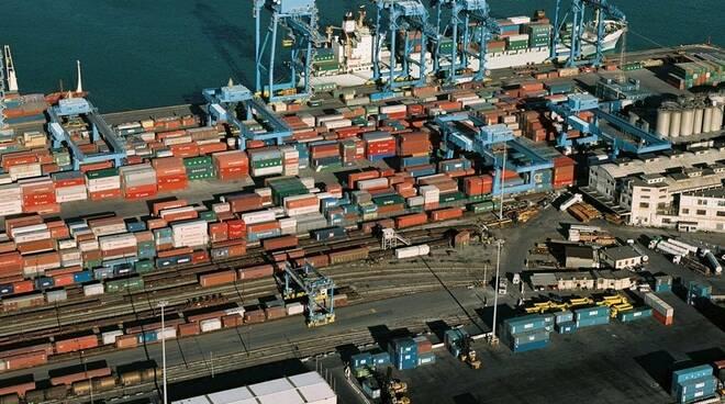 container, porto, genova