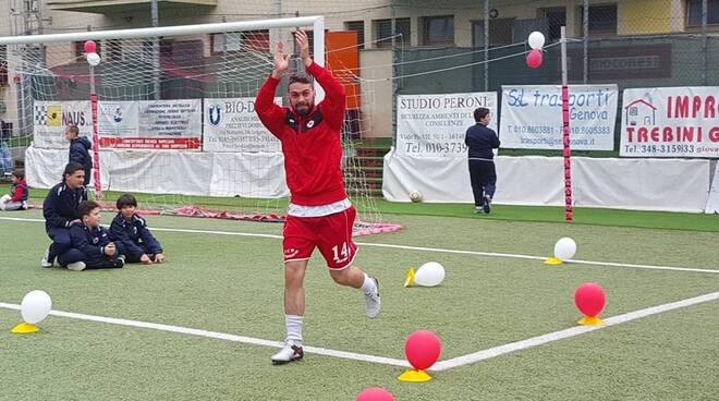 Il centrocampista Sanguineti