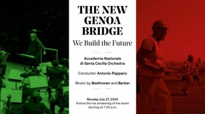 Il concerto per il nuovo Ponte di Genova