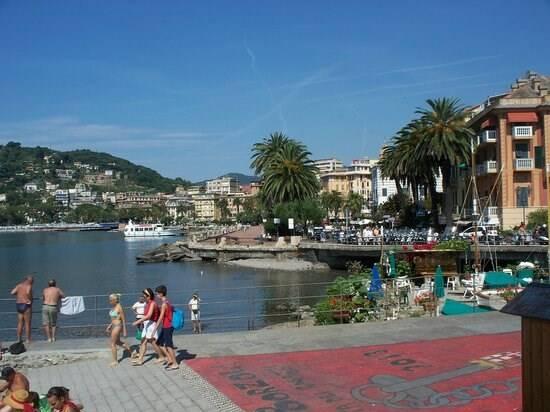 Il lungomare di Rapallo.