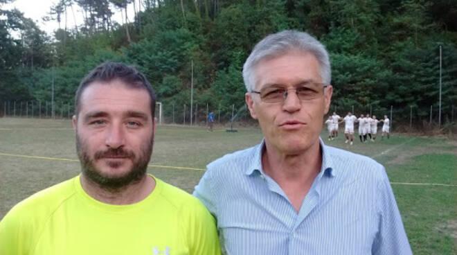 Il neo allenatore del Casarza Ligure Cervia con il diesse Pasciuti