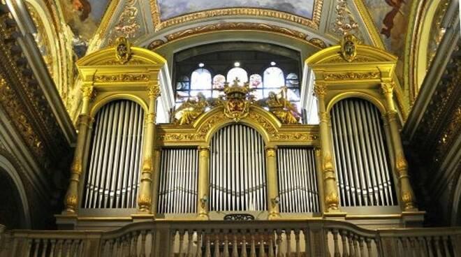 L'organo del Santuario di Nostra Signora di Montallegro.