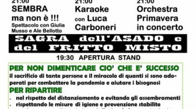 Locandina della sagra dell'Asado di Rapallo