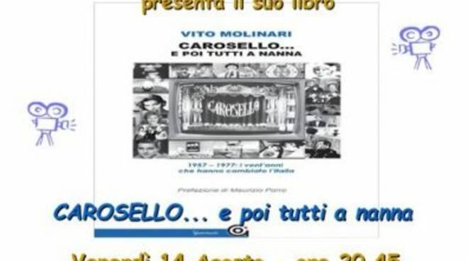 """Locandina presentazione del libro di Vito Molinari sul """"Carosello"""""""