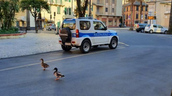 Un'immagine di Santa Margherita Ligure durante il lockdown