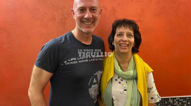 """Andrea Colombo e autori del libro """"Appunti sul futuro"""""""