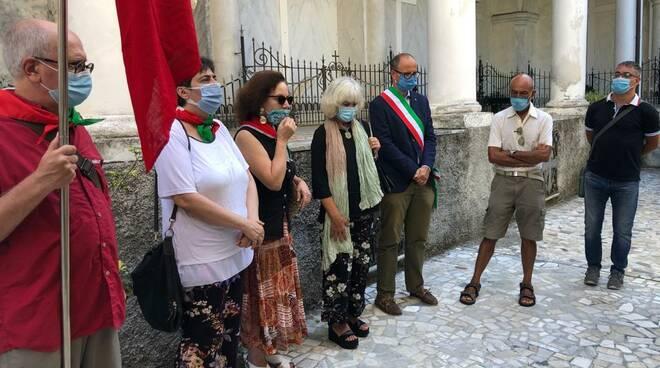 Commemorazione dei caduti Partigiani a Santa Margherita Ligure.