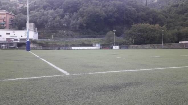 Il campo da gioco della Pro Recco Rugby.