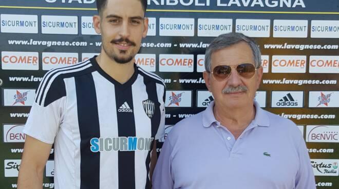 La presentazione del nuovo centravanti Daniele Buongiorno da parte della Lavagnese.