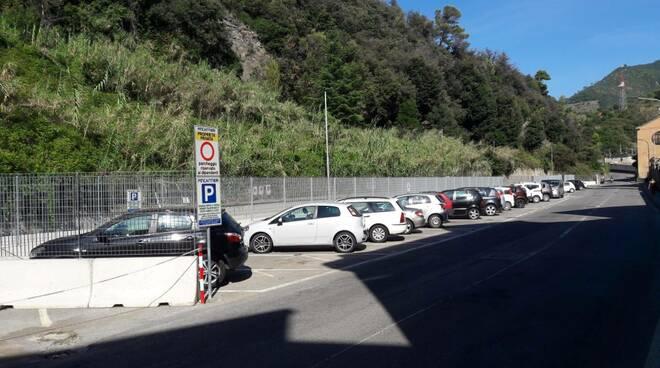 Lavori di messa in sicurezza della frana di via Gramsci a Riva Trigoso.