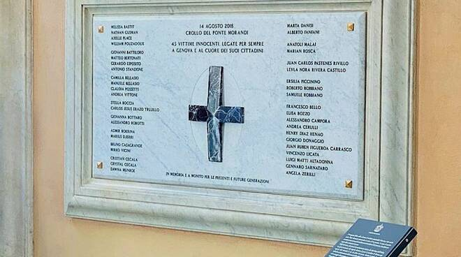 Targa vittime ex morandi