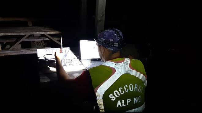 Un operatore del Soccorso Alpino.