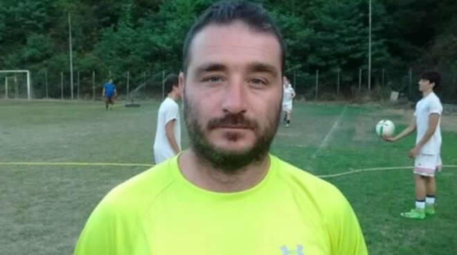 Andrea Cervia, allenatore spezzino del Casarza Ligure.